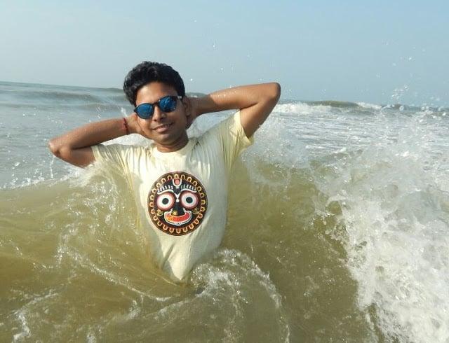 India's Most Popular Attractive Beach. Golden/Swargadwar Beach Puri Bhubneshwar Odisha.