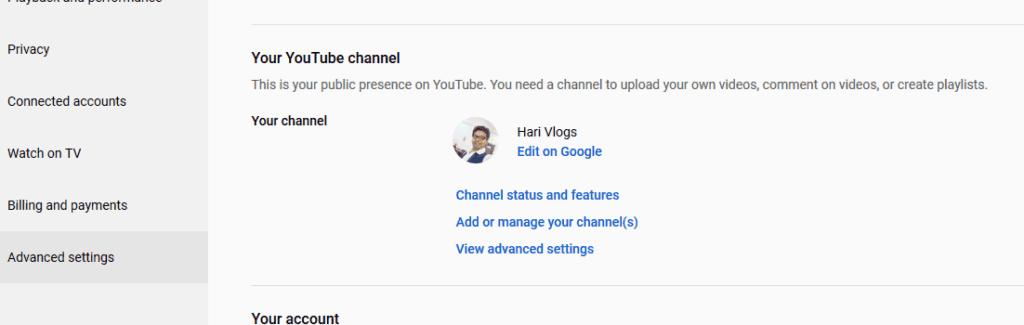 change url youtube