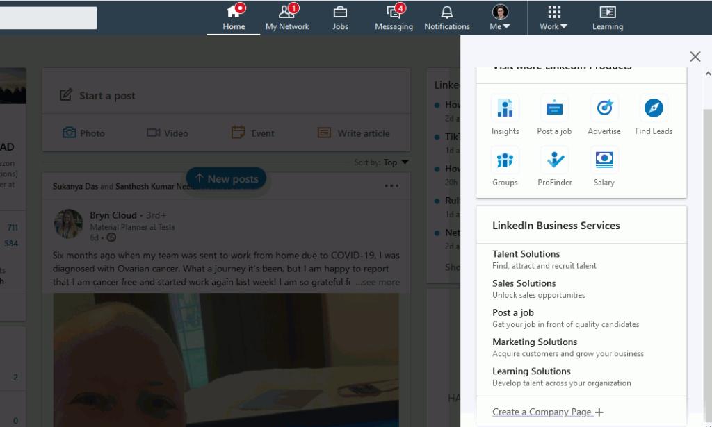 Linkedin business page kaise banayen