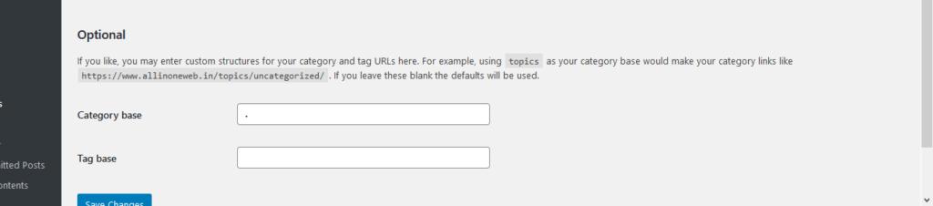 Wordpress URL se kaise category word remove kare
