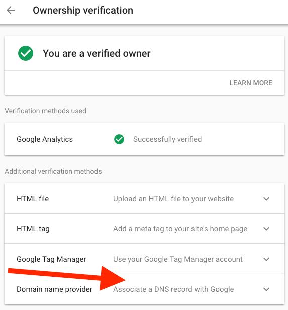 domain verify
